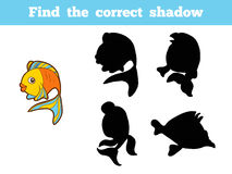 Find the correct shadow (fish) Royalty Free Stock Image