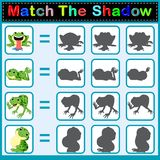 Find the correct shadow of the frog. Illustration of Find the correct shadow of the frog Stock Photos
