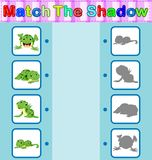 Find the correct shadow of the frog. Illustration of Find the correct shadow of the frog Royalty Free Stock Photo