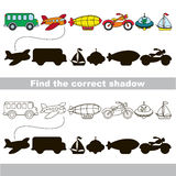 Find correct shadow. Stock Images