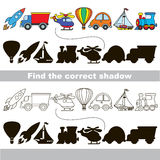 Find correct shadow. Stock Photography