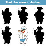 Find the correct shadow, game for children, Chef Stock Photo