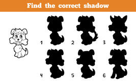 Find the correct shadow. Game for children: Find the correct shadow (dog Stock Photos