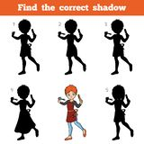 Find the correct shadow, game for children, Hairdresser. Find the correct shadow, education game for children, Hairdresser Stock Photos