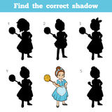 Find the correct shadow, game for children, Maid Stock Photos