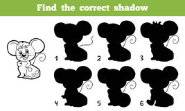 Find the correct shadow. Game for children: Find the correct shadow (mouse Royalty Free Stock Images
