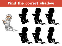 Find the correct shadow: Halloween character (mummy) Stock Image