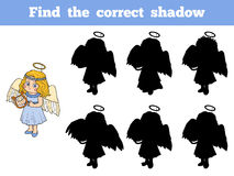 Find the correct shadow: Halloween Characters (angel). Find the correct shadow: Halloween Characters (girl, little angel Stock Photos
