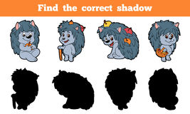 Find the correct shadow (hedgehog). Game for children: Find the correct shadow (hedgehog Stock Images