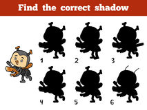 Find the correct shadow. Little ant. Find the correct shadow, education game for children. Little ant Royalty Free Stock Photography