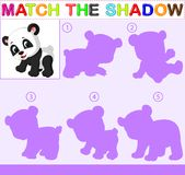 Find the correct shadow of the panda. Illustration of Find the correct shadow of the panda Royalty Free Stock Images