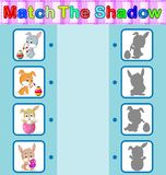 Find the correct shadow of the rabbit. Illustration of Find the correct shadow of the rabbit Royalty Free Stock Photo