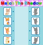 Find the correct shadow of the rabbit. Illustration of Find the correct shadow of the rabbit Stock Image