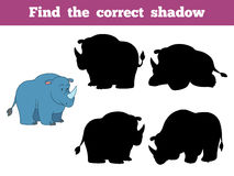 Find the correct shadow (rhino) Royalty Free Stock Images