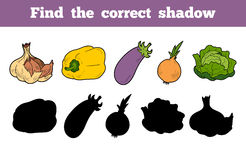 Find the correct shadow (vegetables) Stock Photography