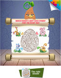 Find a correct way. Visual Game for children. Which rabbit meet  each other? Find a correct way Royalty Free Stock Photography