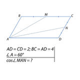 Find the cosine of the angle between the straight lines Stock Photo