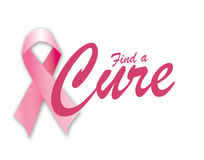 Find A Cure for Breast Cancer. Awareness Royalty Free Stock Photos