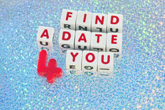 Find a date 4 you Royalty Free Stock Images