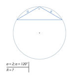 Find the diameter of the circumscribed circle Stock Photos