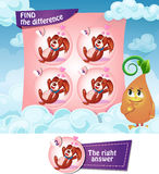 Find the difference hearts. Visual Game for children. Find the difference Royalty Free Stock Photography