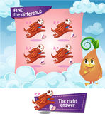 Find the difference hearts. Visual Game for children. Find the difference Royalty Free Stock Photos