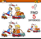Find the differences activity Stock Photography