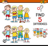 Find the differences activity Royalty Free Stock Photo
