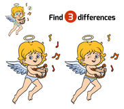 Find differences, Angel. Find differences, education game for children, Angel Royalty Free Stock Images