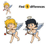 Find differences, Angel. Find differences, education game for children, Angel Royalty Free Stock Photography