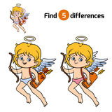 Find differences, Angel. Find differences, education game for children, Angel Stock Photography