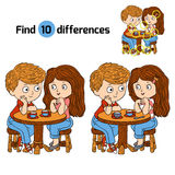 Find differences (boy and girl). Game for children: Find differences (boy and girl Stock Photography