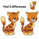 Find 3 differences (cat) Royalty Free Stock Images