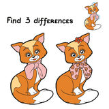 Find 3 differences (cat) Stock Photography