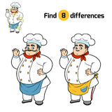 Find differences, Chef. Find differences, education game for children, Chef stock illustration