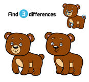 Find differences for children (bear). Find differences, education game for children (bear Stock Photography