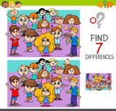 Find differences with children characters Royalty Free Stock Photography