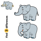 Find differences for children (elephant) Stock Photography