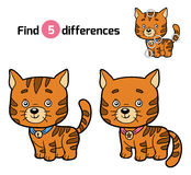 Find differences for children (ginger cat) Royalty Free Stock Photography