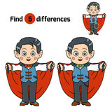 Find differences for children: Halloween characters (vampire) Stock Photography