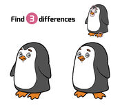 Find differences for children (penguin) Stock Images