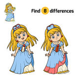 Find differences for children, Princess. Find differences, education game for children, Princess Stock Photography