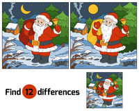 Find differences for children: Santa Claus with a bell. Find differences game for children: Santa Claus with a bell Stock Images
