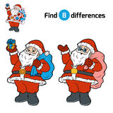 Find differences for children, Santa Claus. Find differences, education game for children, Santa Claus Stock Image