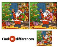 Find differences for children, Santa Claus. Find differences education game for children, Santa Claus Royalty Free Stock Photos