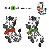 Find differences: Christmas winter zebra Stock Photography