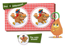 Find 5 differences Columbus Day. Visual Game for children. Task: find 5 differences Stock Photo
