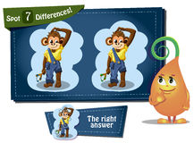 Find 5 differences Columbus Day. Visual Game for children. Task: find 7 differences Stock Images