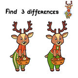 Find differences (deer) Stock Image