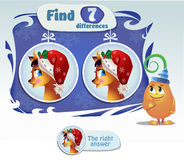 Find 7 differences deer. Visual Game for children. Task: find 7 differences Royalty Free Stock Photography